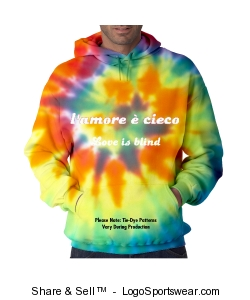 Pro-Weave Tie Dye Hooded Sweatshirt Design Zoom